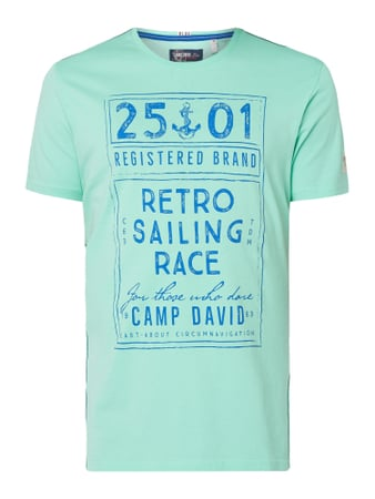Camp David T-Shirt mit Print Grün - 1