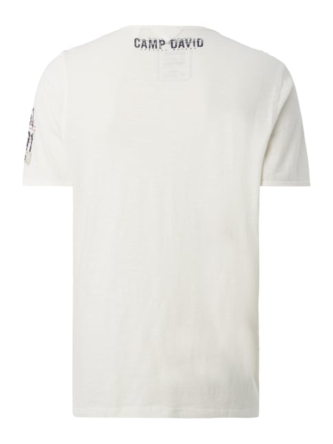 Camp David T-Shirt mit Print Offwhite - 1