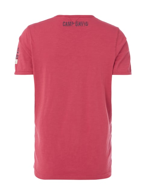 Camp David T-Shirt mit Print Rot - 1