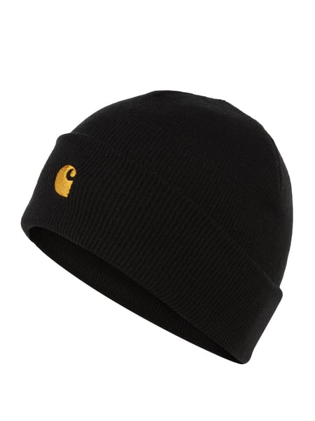 Carhartt Work In Progress Beanie mit Logo-Stickerei Schwarz - 1