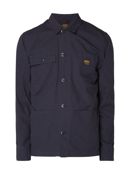 Carhartt Work In Progress Michigan Shirt J - Jacke aus Baumwolle mit Umlegekragen Dunkelblau