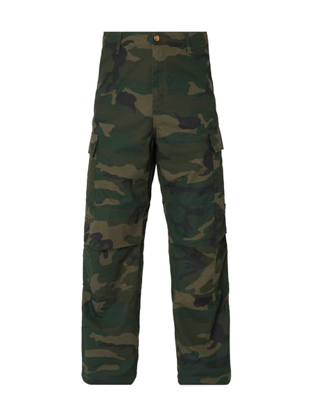 Carhartt Work In Progress Relaxed Fit Cargohose mit Camouflage-Muster Grün - 1
