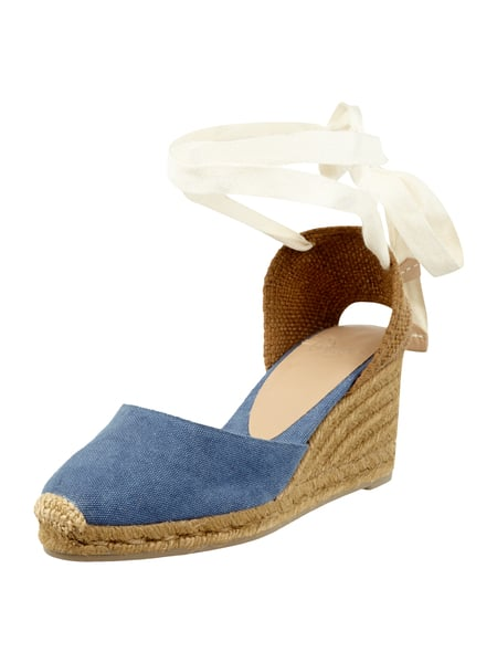 Castañer Wedges aus Canvas Jeans