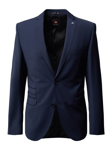 CG - Club of Gents Slim Fit 2-Knopf-Sakko mit Stretch-Anteil Blau - 1