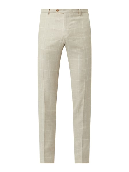 CG - Club of Gents Slim Fit Anzughose aus Leinenmischung Modell 'Paco' Beige - 1