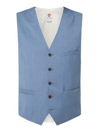 CG - Club of Gents Slim Fit Weste aus Schurwolle Blau - 1