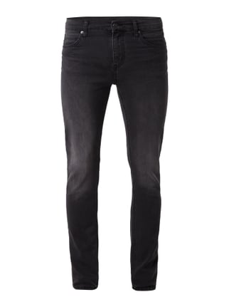 Coloured Slim Fit 5-Pocket-Jeans mit Stretch-Anteil Grau / Schwarz - 1