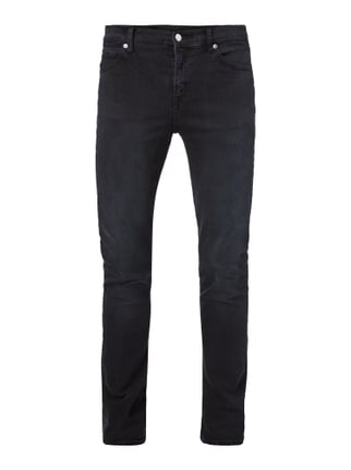 Coloured Slim Fit 5-Pocket-Jeans mit Stretch-Anteil Blau / Türkis - 1