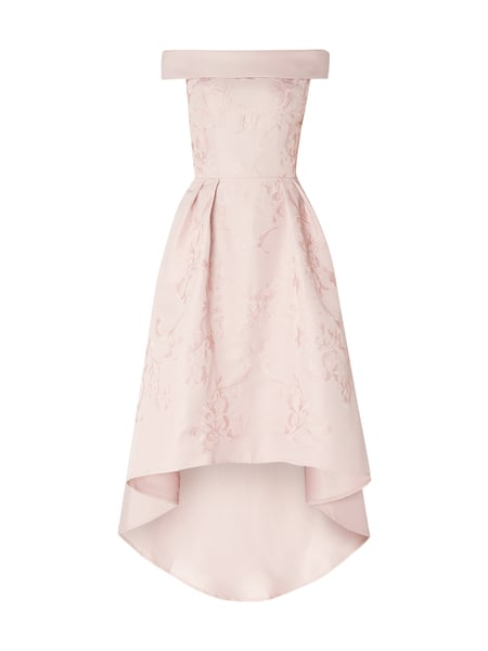 CHI CHI London Vokuhila Cocktailkleid mit Stickereien Rosa - 1