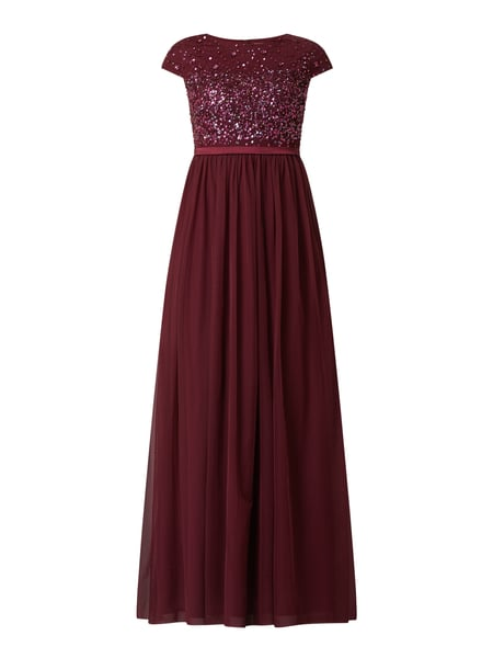 Christian Berg Cocktail Abendkleid aus Mesh Rot - 1
