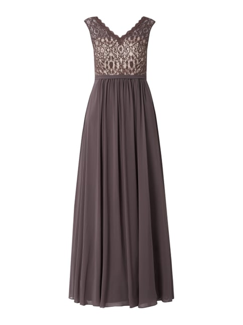 info for 8f898 65c46 Abendkleid mit Pailletten-Applikationen