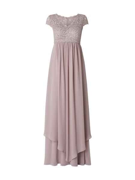 Christian Berg Cocktail Abendkleid mit Pailletten-Besatz Rosa - 1