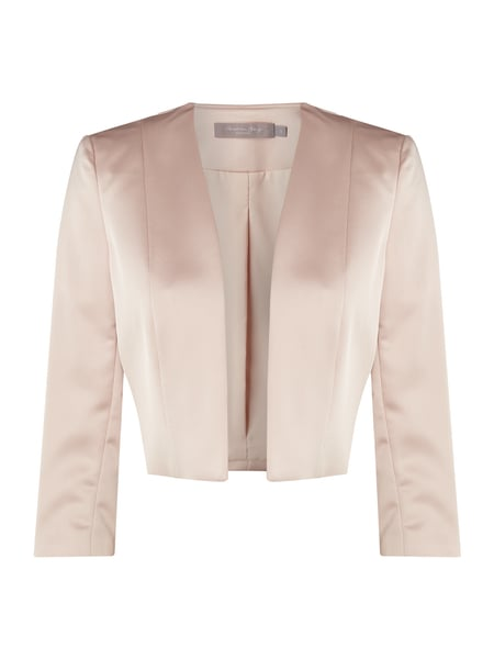 Christian Berg Cocktail Bolero aus Satin Rosa - 1
