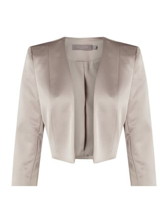 Christian Berg Cocktail Bolero aus Satin Beige - 1