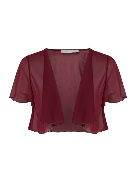 Christian Berg Cocktail Cocktailjacke aus Chiffon Rot - 1