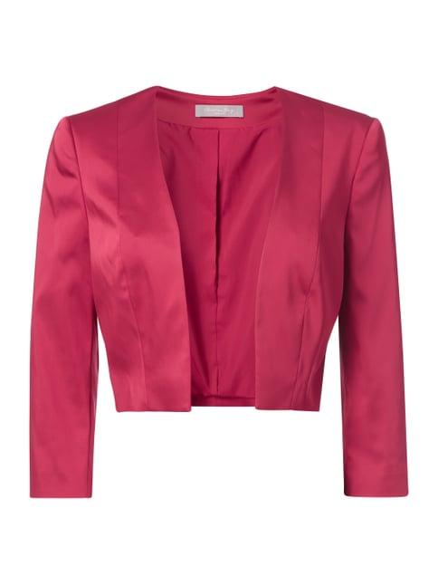Cocktailjacke aus Satin Rot - 1