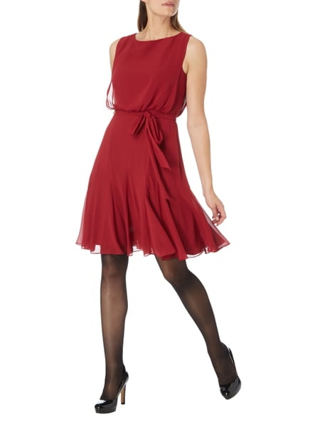 Christian Berg Cocktail Cocktailkleid aus Chiffon mit Taillenband in Rot - 1 6817f1f7f2