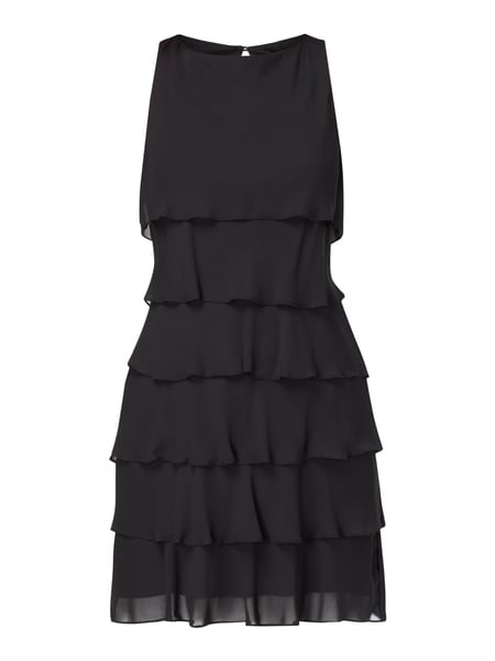 2d1ea1740a85b Christian Berg Cocktail Cocktailkleid im Stufen-Look Grau / Schwarz - 1