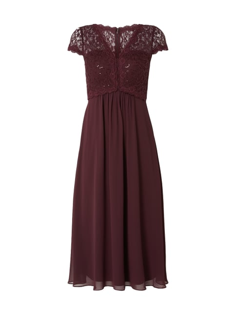 Christian Berg Cocktail Cocktailkleid mit floraler Spitze Lila - 1 ... cd1aa5e71b