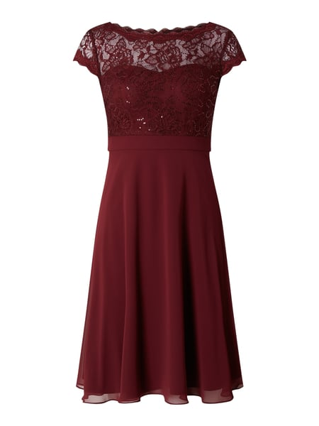 Christian Berg Cocktail Cocktailkleid mit Pailletten-Besatz Rot - 1