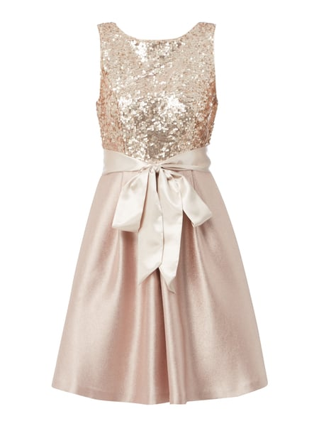 Christian Berg Cocktail Cocktailkleid mit Pailletten-Besatz Metallic Rosa meliert