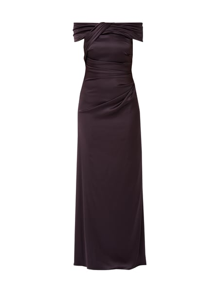 Christian Berg Cocktail Off-Shoulder-Abendkleid mit Drapierungen Lila - 1