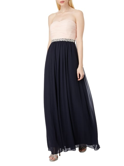 Christian Berg Cocktail Two-Tone Abendkleid aus Chiffon in Blau / Türkis - 1