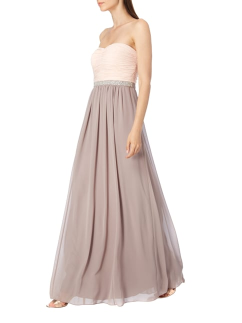 Christian Berg Cocktail Two-Tone-Abendkleid mit Ziersteinbesatz in Lila - 1