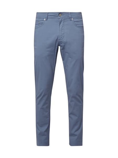 Christian Berg Men 5-Pocket-Hose aus Baumwoll-Elasthan-Mix Aqua Blau