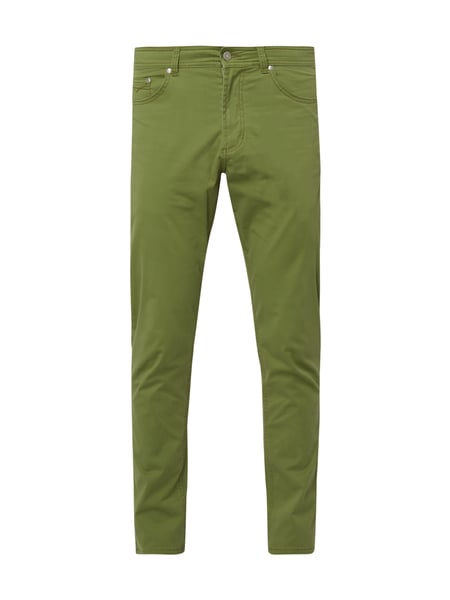Christian Berg Men 5-Pocket-Hose aus Baumwoll-Elasthan-Mix Schilf