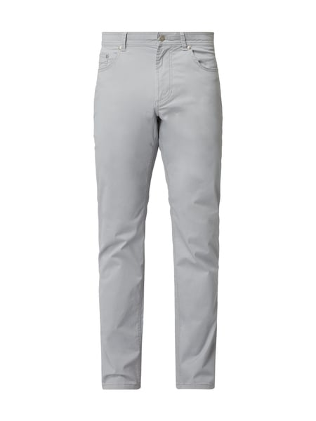Christian Berg Men 5-Pocket-Hose aus Baumwoll-Elasthan-Mix Silber