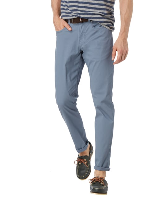 Christian Berg Men 5-Pocket-Hose mit Rippenstruktur Aqua Blau - 1