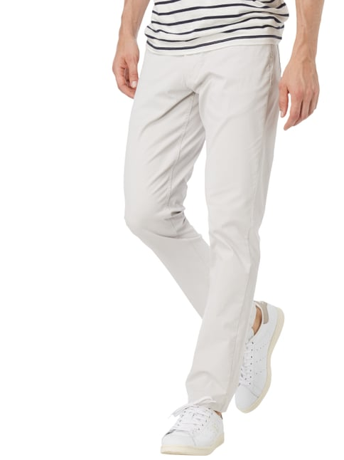 Christian Berg Men 5-Pocket-Hose mit Rippenstruktur Kitt - 1