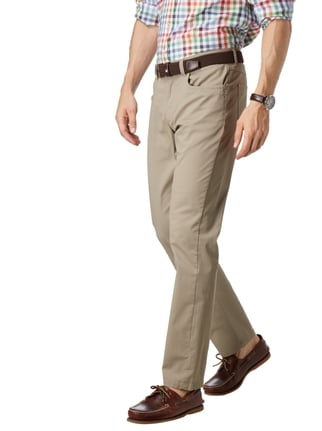 Christian Berg Men 5-Pocket-Hose mit Rippenstruktur Schlamm - 1