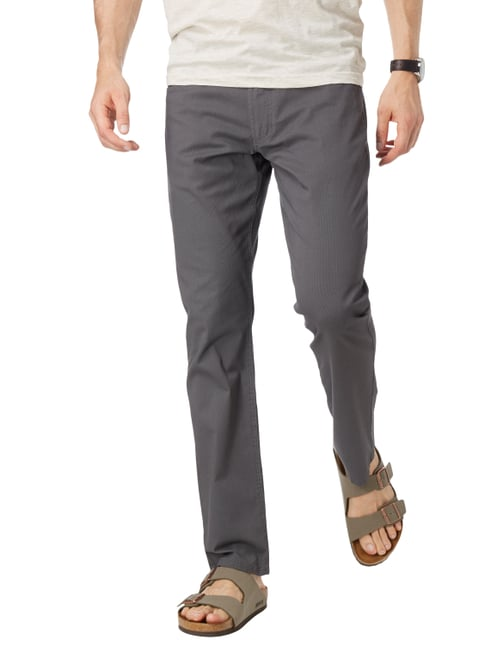 Christian Berg Men 5-Pocket-Hose mit Rippenstruktur Schwarz - 1