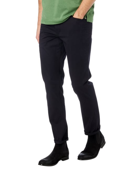 Christian Berg Men 5-Pocket-Hose mit Stretch-Anteil Marineblau - 1