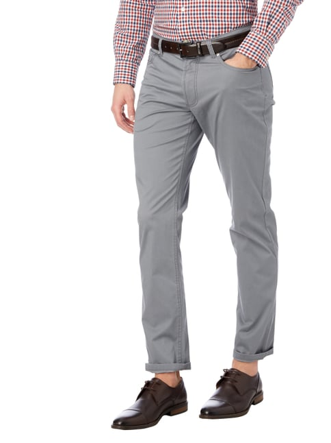 Christian Berg Men 5-Pocket-Hose mit Stretch-Anteil Mittelgrau meliert - 1