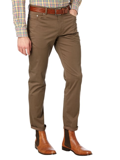 Christian Berg Men 5-Pocket-Hose mit Stretch-Anteil Schlamm - 1