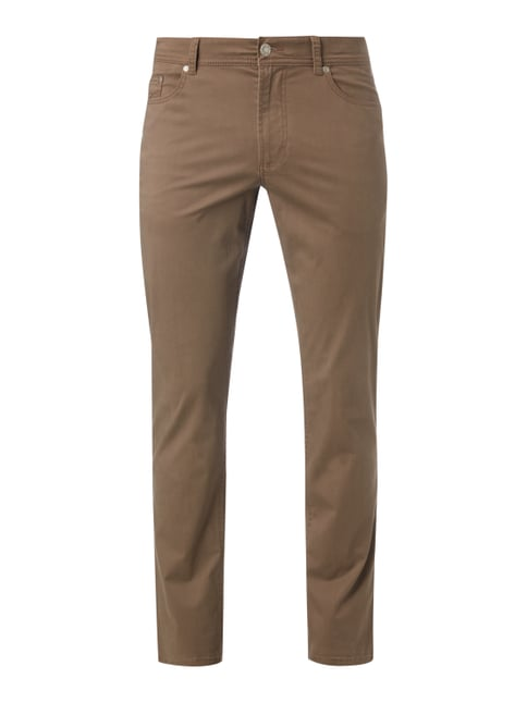 5-Pocket-Hose mit Stretch-Anteil Braun - 1