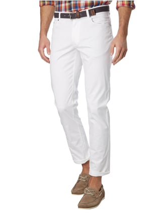 Christian Berg Men 5-Pocket-Hose mit Stretch-Anteil Weiß - 1