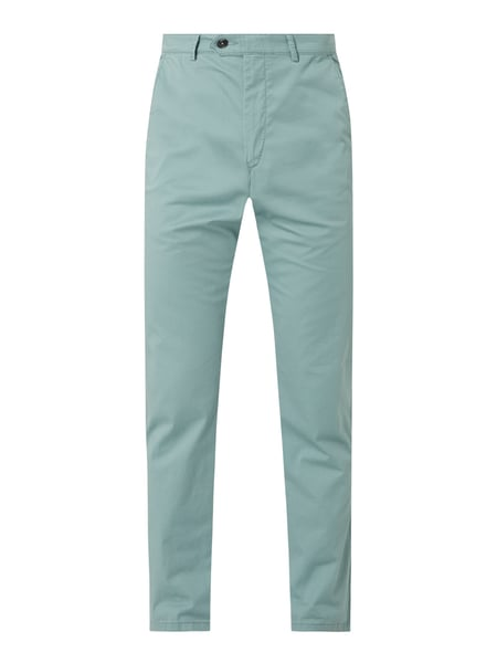 Christian Berg Men Chino met stretch Groen - 1