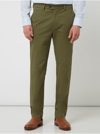 405ba37104 ... Christian Berg Men Chino mit Stretch-Anteil Khaki - 1