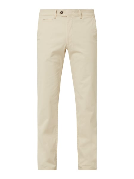 Christian Berg Men Chino mit Stretch-Anteil Beige - 1