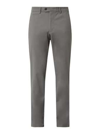 Christian Berg Men Chino mit Stretch-Anteil Grau - 1