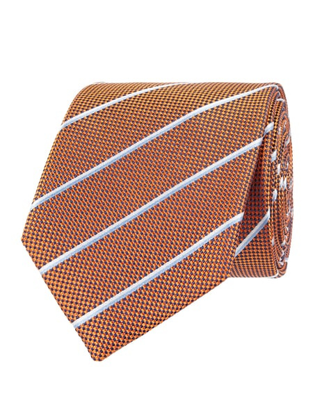 Christian Berg Men Krawatte aus Seide (7cm) Orange - 1