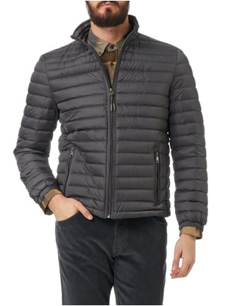 Christian Berg Men Light-Daunen Steppjacke mit Stehkragen Dunkelgrau - 1