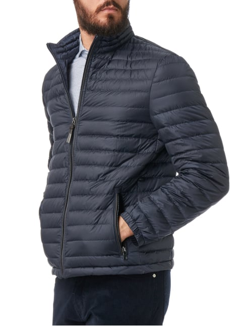 Christian Berg Men Light-Daunen Steppjacke mit Stehkragen Marineblau - 1