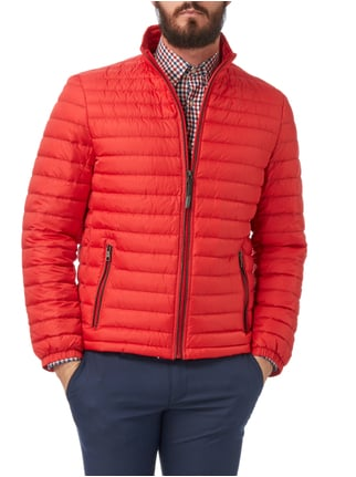 Christian Berg Men Light-Daunen Steppjacke mit Stehkragen Rot - 1