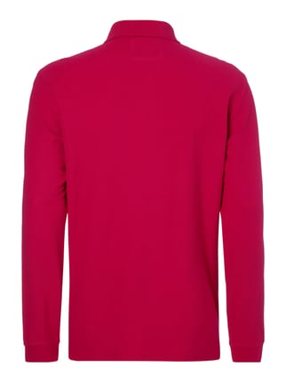 Christian Berg Men Poloshirt mit langem Arm Metallic Rosa - 1