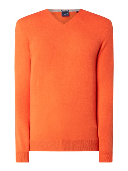 Christian Berg Men Pullover aus Woll-Kaschmir-Mix Orange - 1